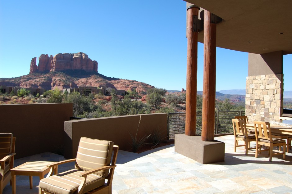 8 patio with Cathedral Rock