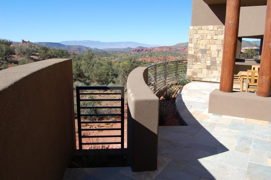 9 patio with oak creek view